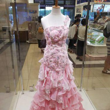 旅行は「宝塚北サービスエリア」で宝塚の衣装を見学してから出発